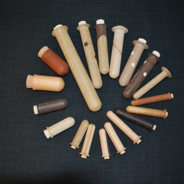 reagensglas træ hylster til nåle